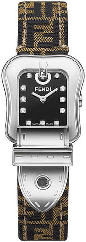 Fendi Watch, Women's Brown Fabric Strap F381212DF