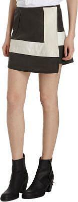 Acne Studios Front Wrap Contrast Panel Trim Skirt