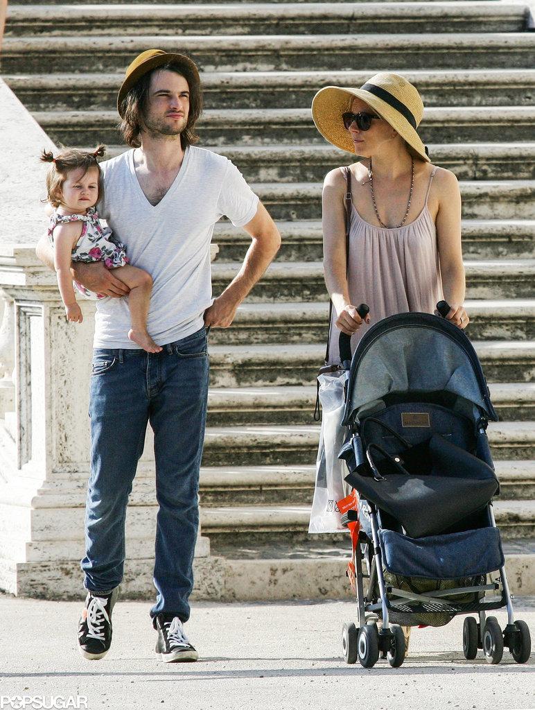 Sienna Miller and Tom Sturridge went sightseeing with Marlowe.