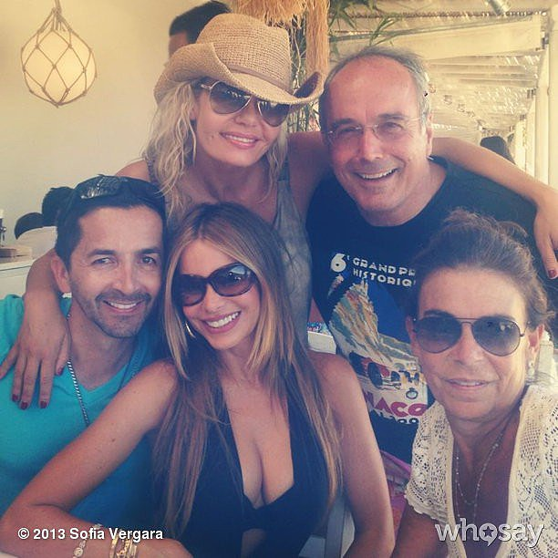 Sofia Vergara posed with her friends in Greece. Source: Sofia Vergara on WhoSay