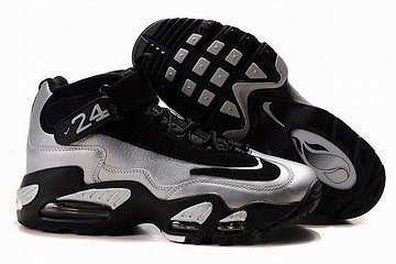 nike griffey max 1 black silver shoes mens