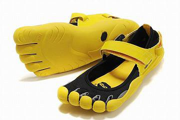 black and yellow fivefinger sprint men shoes