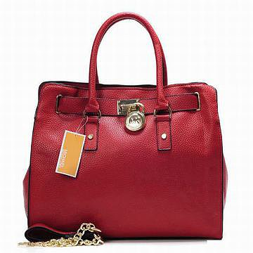 Michael Kors Bags Hamilton Tote Dark Red Womens