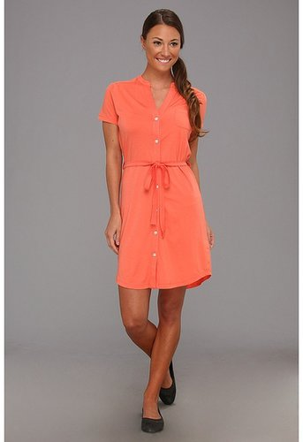 Carve Designs - Logan Button Up Dress (Coral) - Apparel