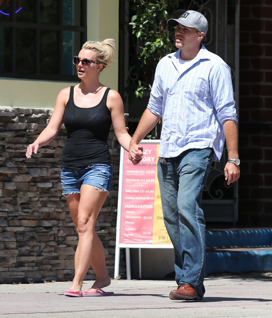 Britney Spears and David Lucado grabbed lunch together.