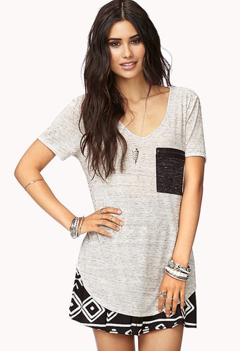 FOREVER 21 Everyday Zip Pocket Tee