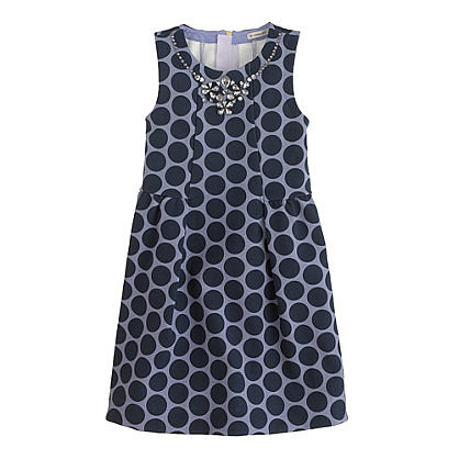 Girls' Necklace Dress in Dot ($88)