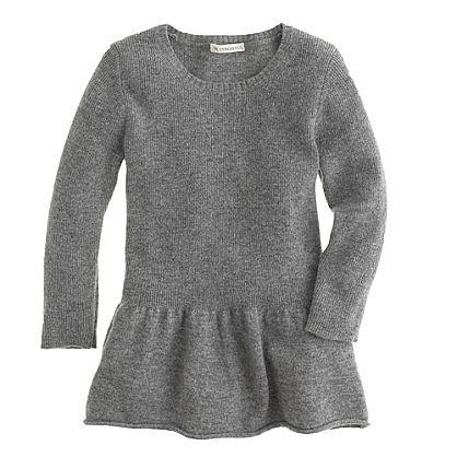Girls' Peplum Sweater ($58)