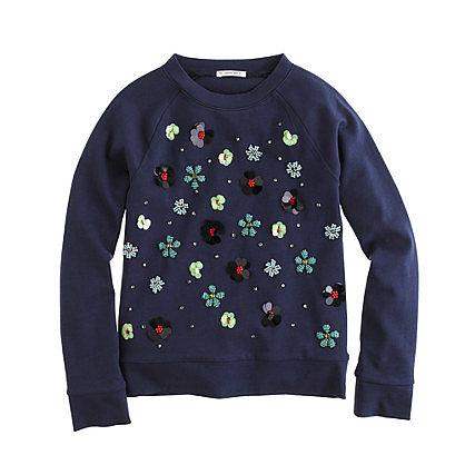 Girls' Embellished Floral Sweatshirt ($55)