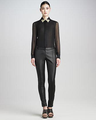 Jason Wu Leather Pants