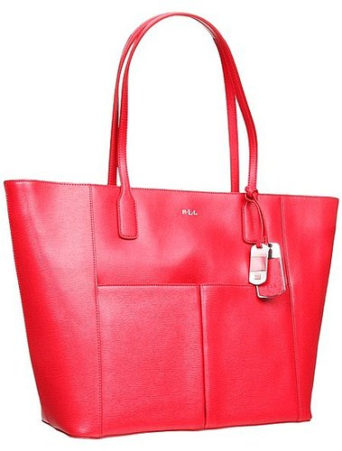 LAUREN Ralph Lauren - Newbury Pocket Tote (Red) - Bags and Luggage