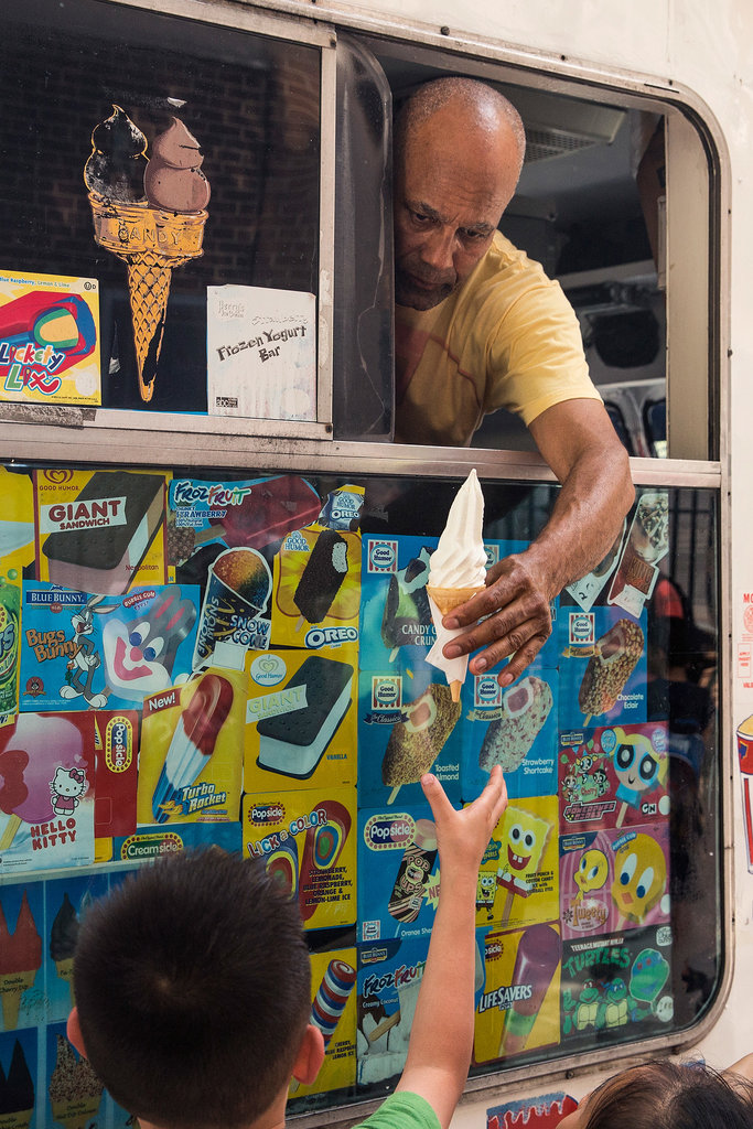 Ice cream was a necessity on New York's Lower East Side in late June.