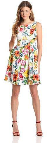 Eliza J Women's Sleeveless Floral Dress