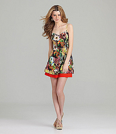 GB Cut-Out Floral Dress