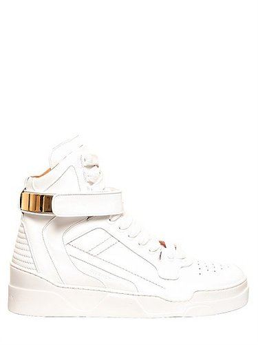 Matte Leather High Top Sneakers