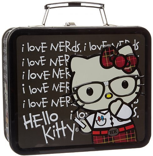 Hello Kitty Nerds Chalkboard Childrens School Lunchbox
