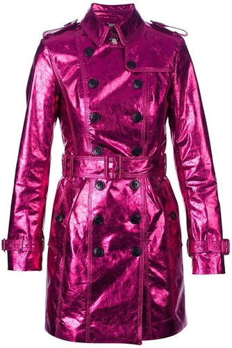 Burberry Prorsum metallic trench