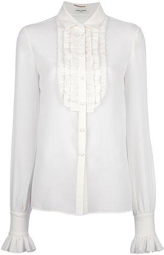 Saint Laurent ruffled blouse