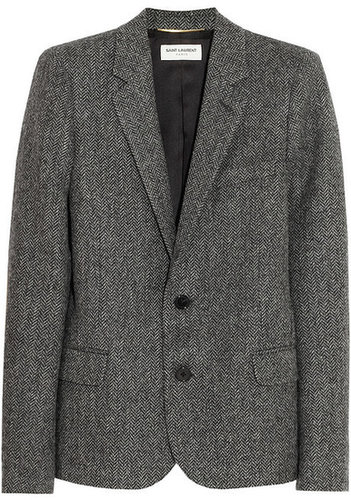 Saint Laurent Shetland herringbone wool blazer