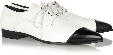 Miu Miu Two-tone pointed leather brogues