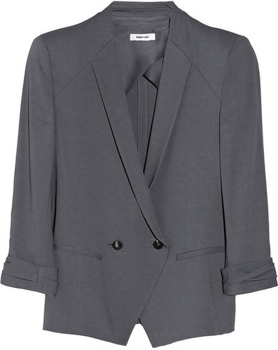 Helmut Lang Silica double-breasted jersey-twill blazer