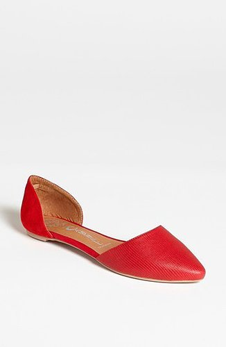 Jeffrey Campbell 'In Love' Flat Red Lizard/ Red Suede 8.5 M