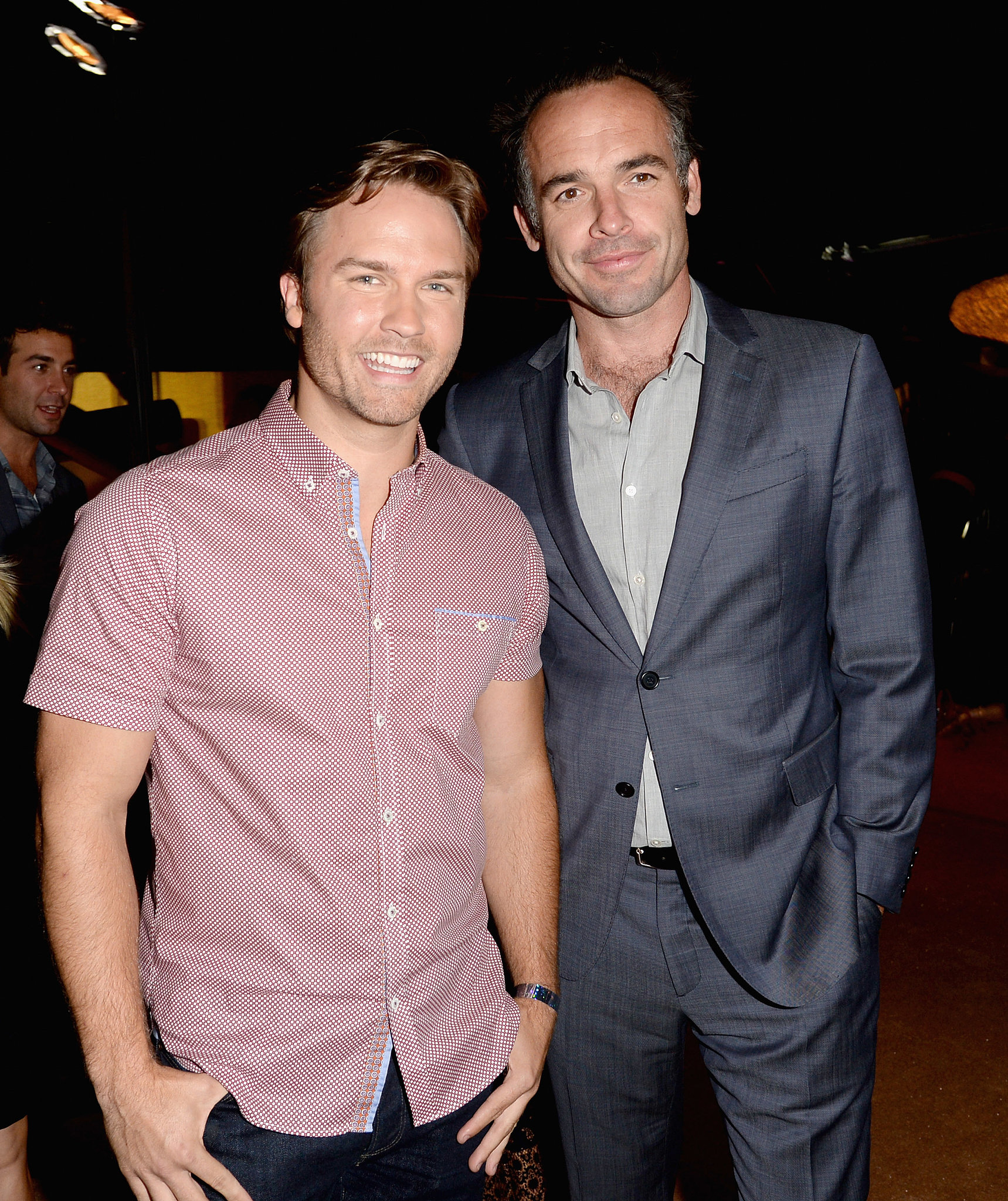 Photo of Paul Blackthorne & his friend  Scott Porter