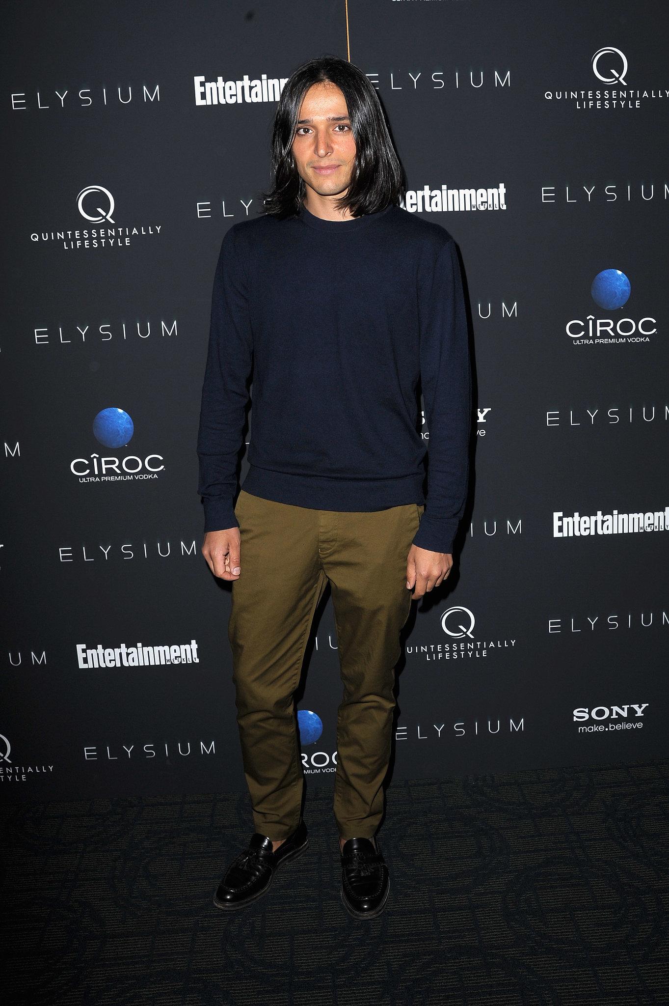 At the New York screening of Elysium, Olivier Theyskens mixed dark, autumnal hues.