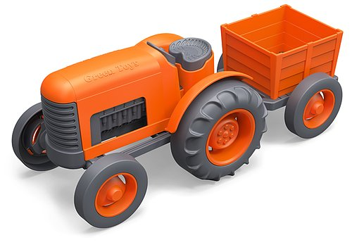 Wheel-around fun for farmers-in-training, Green Toys' tractor ($20) features chunky, easy-to-maneuver pieces for tots ages 1 and up.