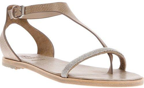 Brunello Cucinelli flat sandal