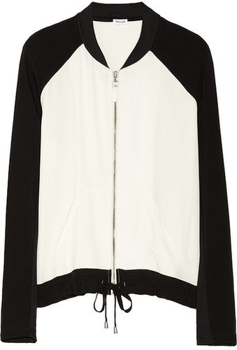 Splendid Color-block voile bomber jacket