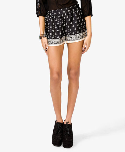 FOREVER 21 Paisley Print Shorts