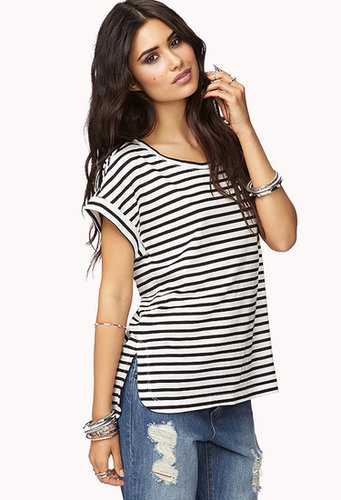 FOREVER 21 Seaside Striped Tee