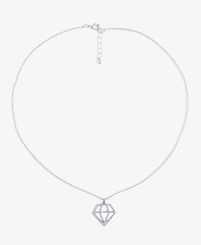 FOREVER 21 Cutout Diamond-Shaped Necklace