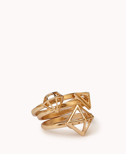 FOREVER 21 Cutout Geo Ring Set