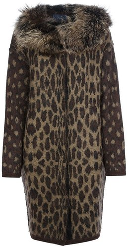 Lanvin oversized leopard print cardigan