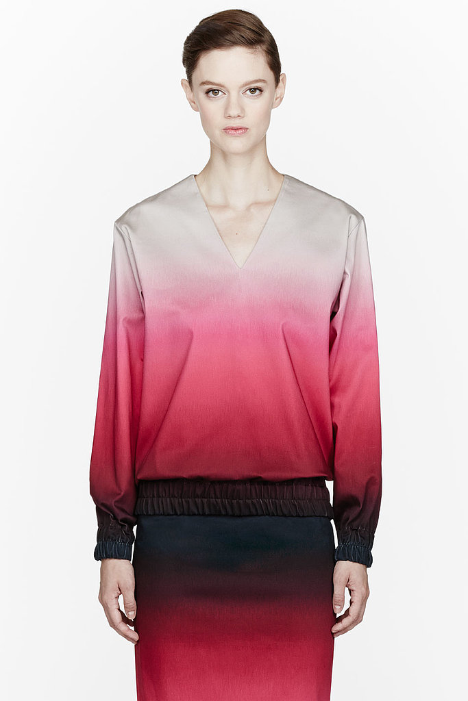 Our beloved ombré feels ready for brisker weather done in the autumnal shades ($655) Jonathan Saunders presented.