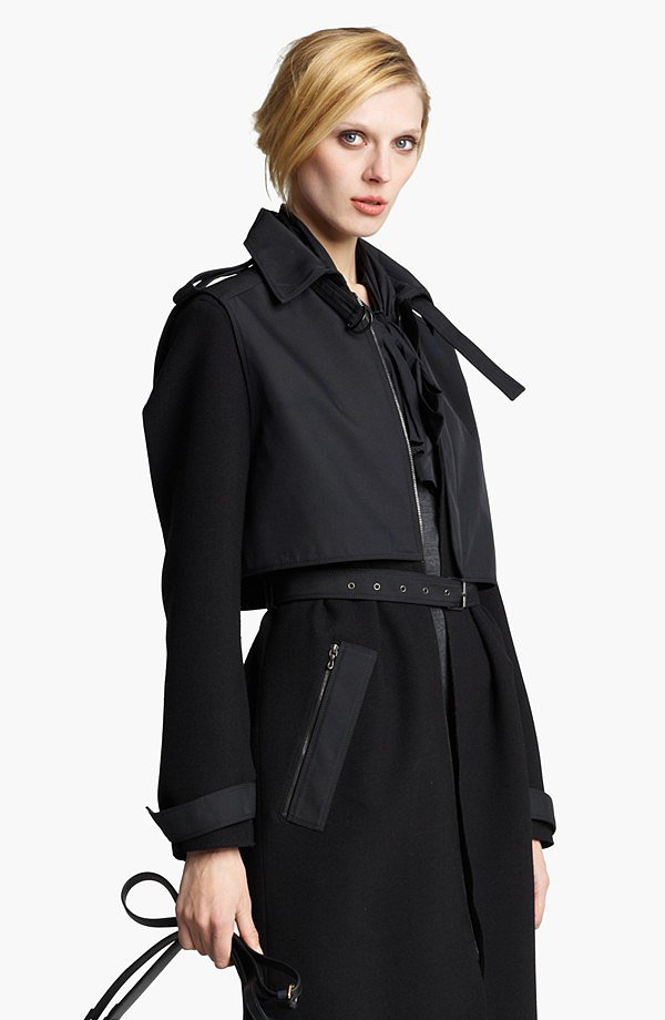 The trench coat feels less preppy and more city-slick in Lanvin's black version ($3,945).
