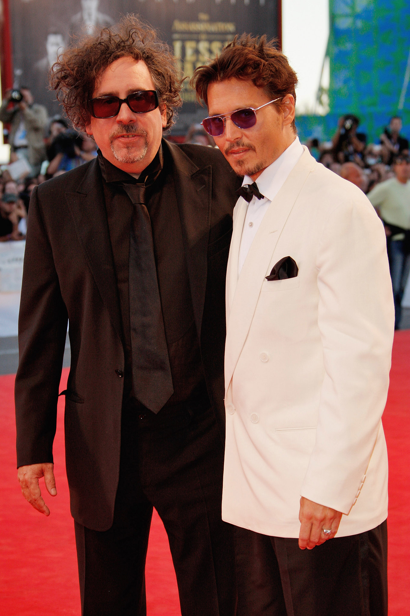 Photo of Tim Burton & his friend actor  Johnny Depp - Dark Shadows
