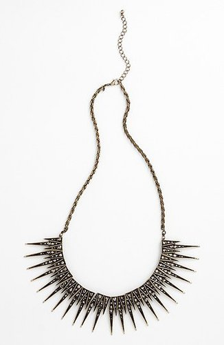 Leith Spike Statement Necklace Black Diamond