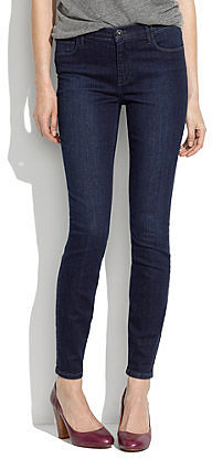 High riser skinny skinny ankle jeans in deep blue wash