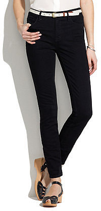 High riser skinny skinny ankle jeans in black frost wash