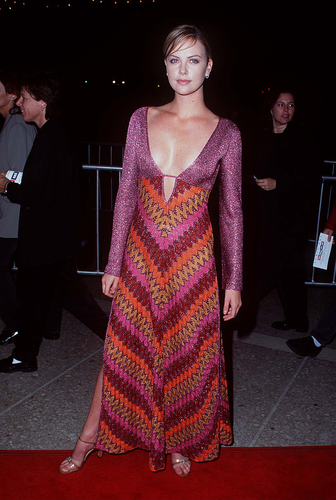 In September 1996, Charlize bared a lot of cleavage at the That Thing You Do premiere in LA.