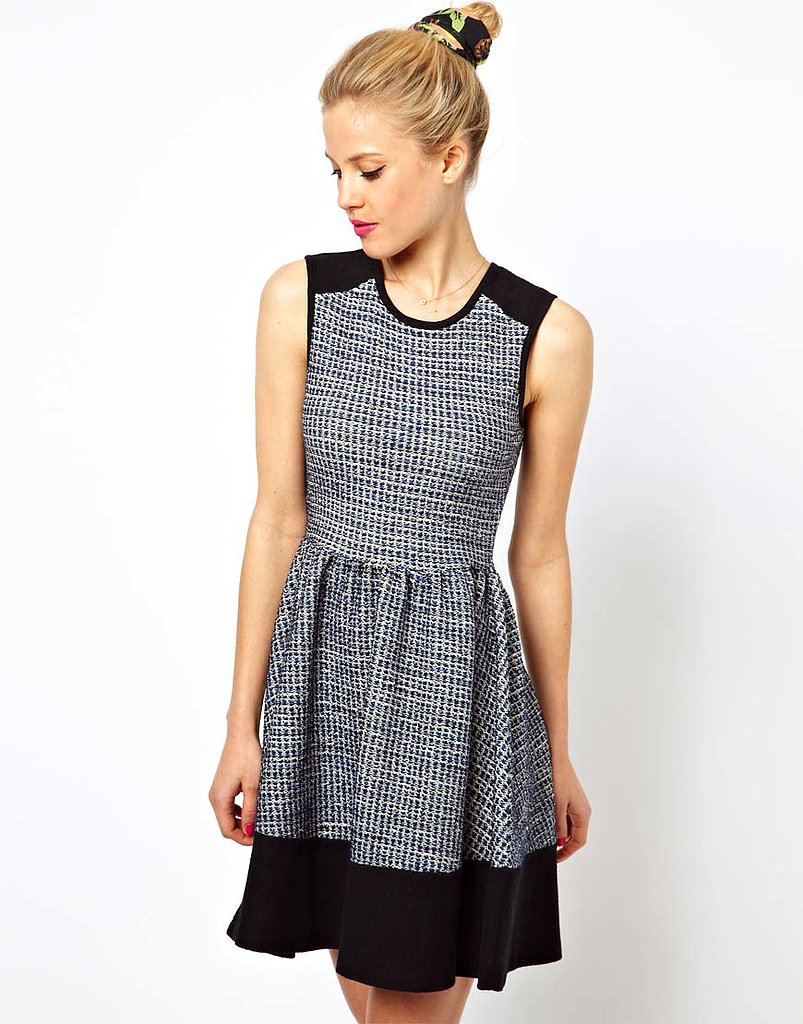 This feminine dress ($30, originally $59) is ready to step into Fall with a light cardigan and stay all through Winter if you add a pair of opaque tights.