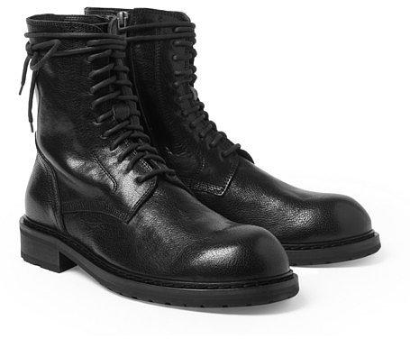 Ann Demeulemeester Full-Grain Leather Boots