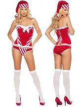 3 Piece Exotic Naughty Santa Girl Costume $18.20