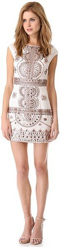 Renzo + kai Embellished Cap Sleeve Dress