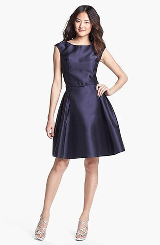 Eliza J Satin Fit & Flare Dress