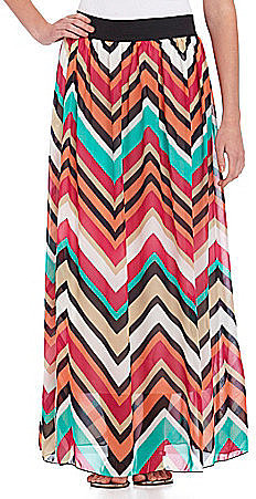 Catch My i Chevron Maxi Skirt