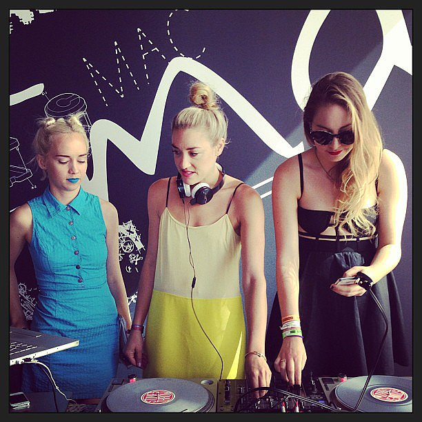 We took a break from the fairgrounds to attend MAC Cosmetics' Lollapalooza rooftop soiree. And we weren't without good music for long: The Dolls' Margot and Mia Moretti provided a killer soundtrack alongside special guest DJ Este from Haim.  Source: Instagram user POPSUGARFashion